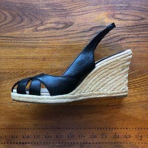 Ann Taylor Loft Black Sandal Espadrille